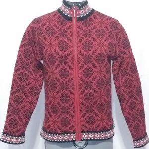 L.L. Bean Merino Lambs Wool Full Zip Sweater Small